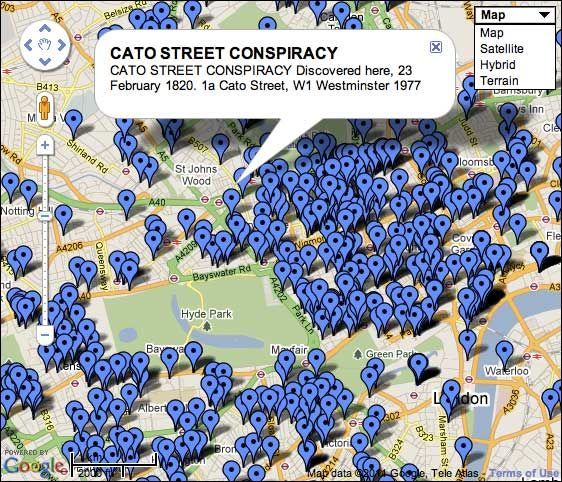A new map showing the location of all 957 (as of January 2011) English Heritage London Blue Plaques