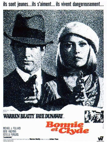 Bonnie and Clyde (Arthur Penn, 1967) remains on of my five top favorite films. Pure ART.