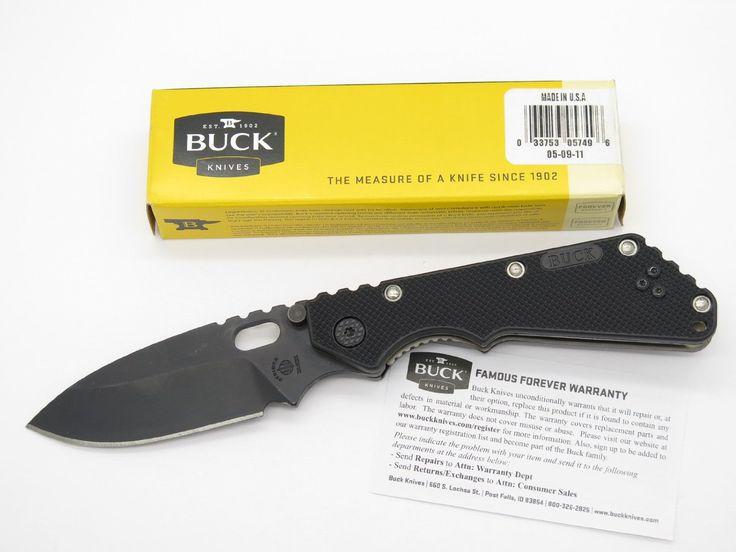 Amazon.com : Buck Strider 889 Black Knife Tactical Military Folding Hunter Knife Tarani Strider ~ 2011 : Sports & Outdoors