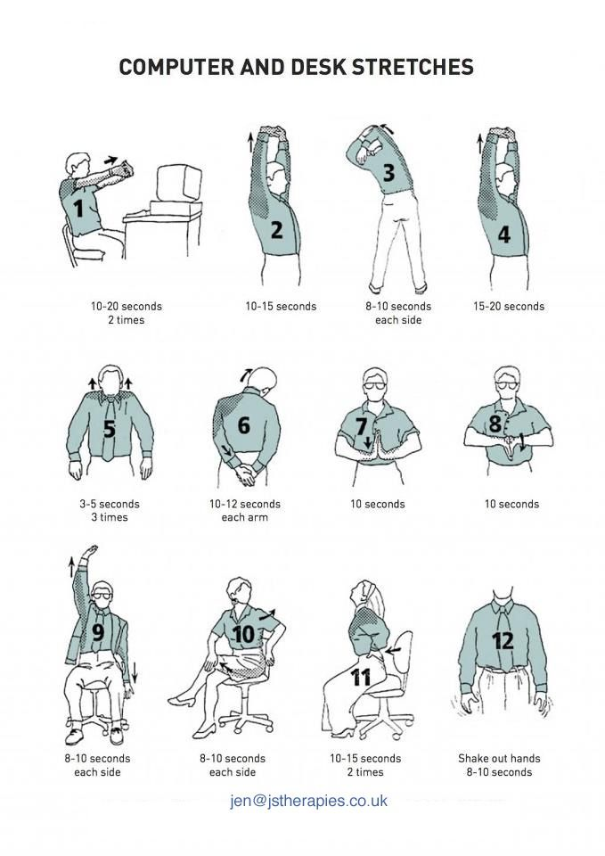 computer and desk stretches