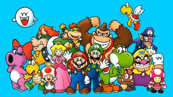 Super Mario Bros. - My brother used to draw these characters. Would be a great idea.