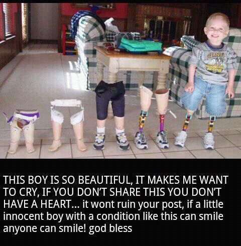 He looks happier than most people I know,appreciate what you have!!