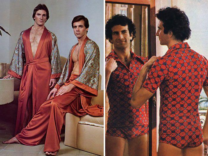 Voilà à quoi ressemblait la mode masculine dans les années 70. Dur !