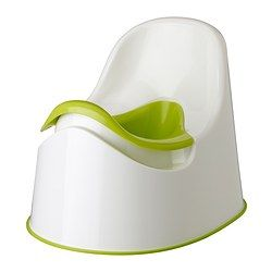 IKEA - LOCKIG, Children's potty, , Anti-slip material on the bottom.  The potty won't move easily when your child is using it.Easy to empty and clean.