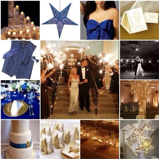 Star Night Wedding Theme: Blue & Gold Wedding Theme Love Under The Stars