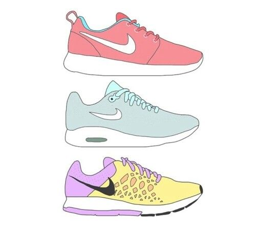 nike shoes tumblr drawing easy little designs 854472