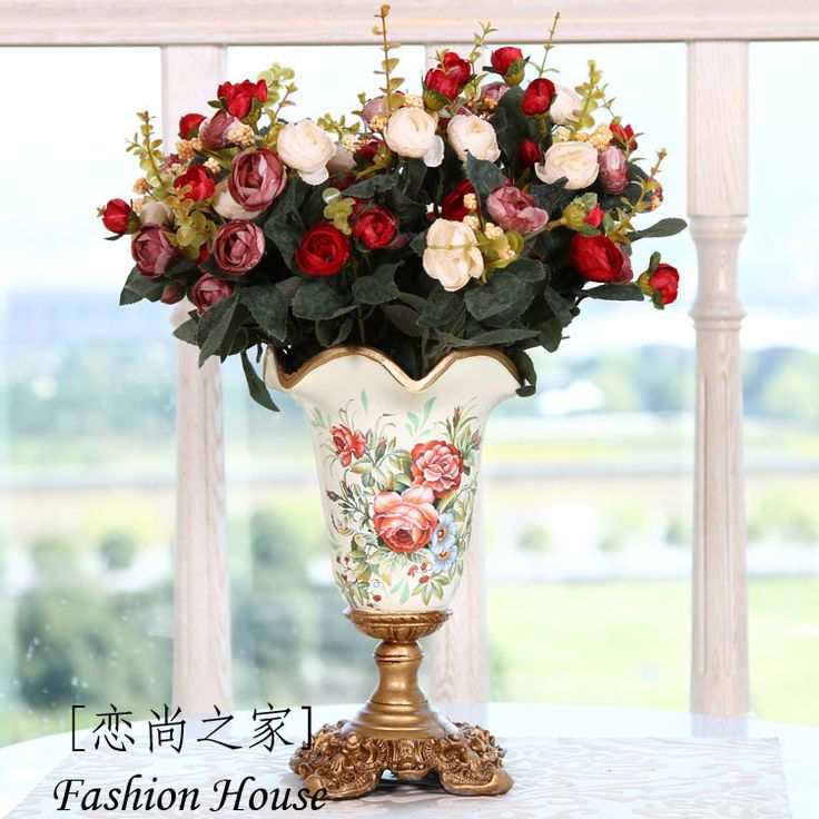 Европейский стиль роскошный европейский стиль сельский керамические расписные вазы столик чайный стол мебель, Украшения дома ремесел