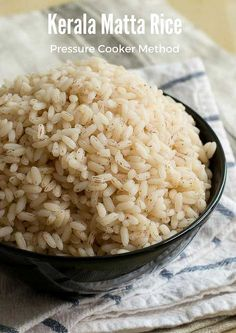 How to cook kerala matta rice in pressure cooker. Easy way to cook matta rice - pressure cooker method. With step by…