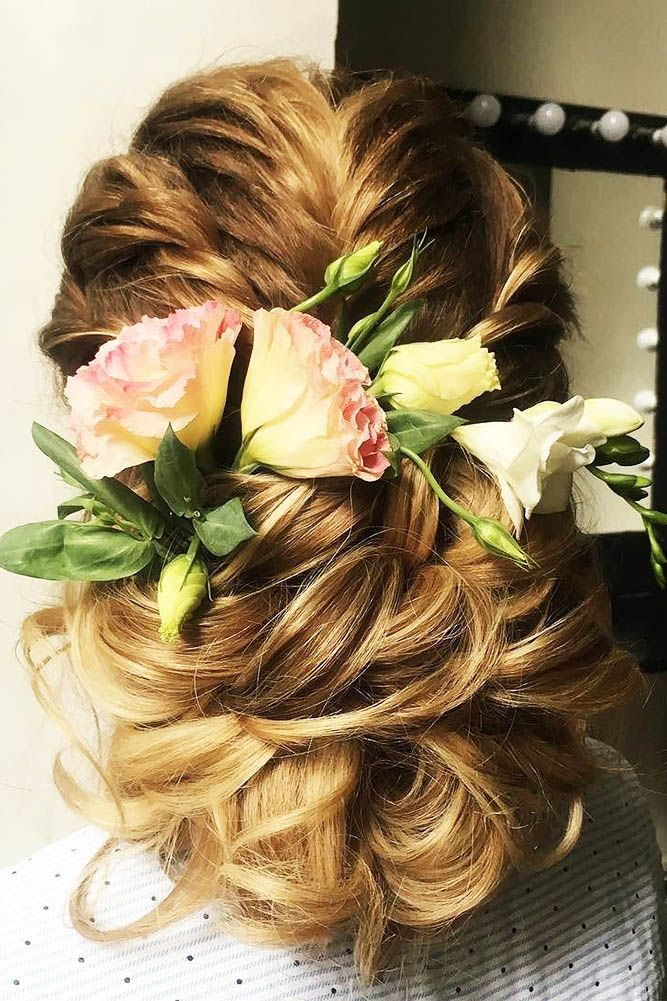 timeless bridal hairstyles low updo with flowers julia visage