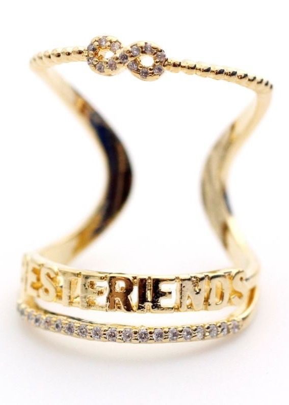 BEST FRIEND Infinity wrap Stacking Ring