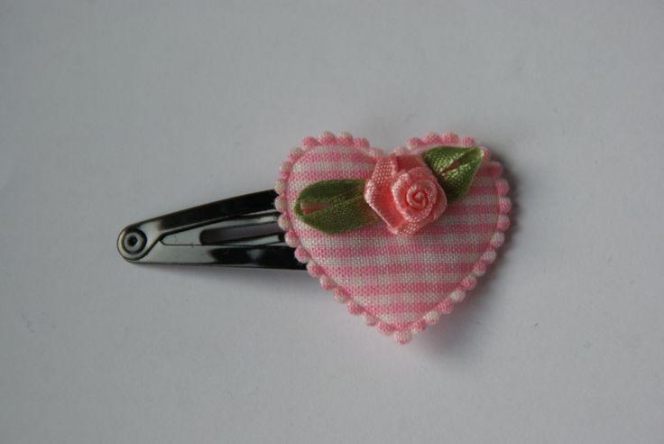 Mooie knip 5 cm met geruit hart en roosjes  https://www.facebook.com/lotenlynnlifestyle www.lotenlynn.nl
