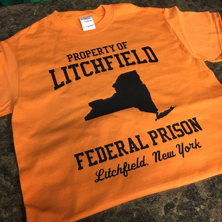Orange Is The New Black Litchfield New York Federal Prison Inmate Fan Tee by EmbroiderExpressions on Etsy https://www.etsy.com/listing/265004774/orange-is-the-new-black-litchfield-new
