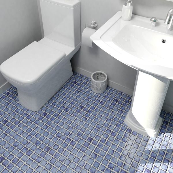 SomerTile 12.375x12.5-inch Antaeus Sapphire Porcelain Mosaic Floor and Wall Tile…