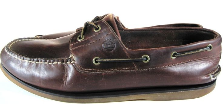 Timberland Men Leather Deck Shoes Size 15 Brown Style 25077.  KAK 29 #Timberland #BoatShoes