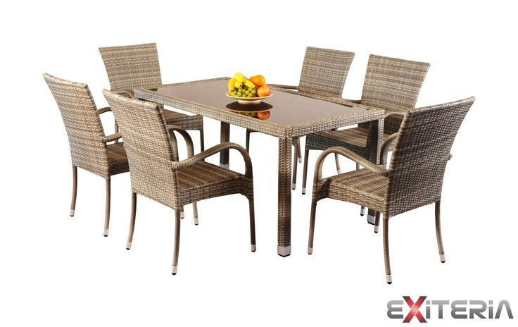 Záhradný set stola a stoličiek z umelého ratanu 1+6 Taryn