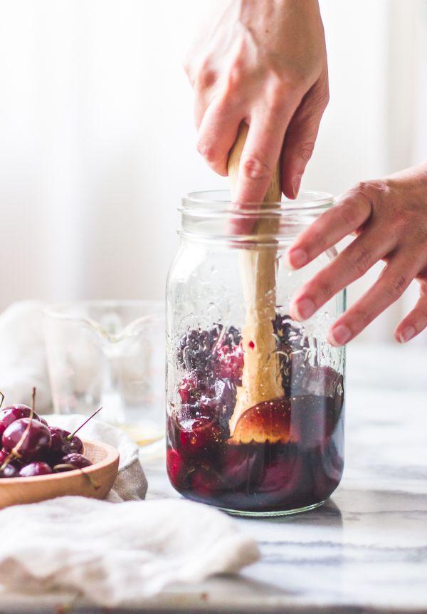 cherry-vanilla-maple-shrub-drinking