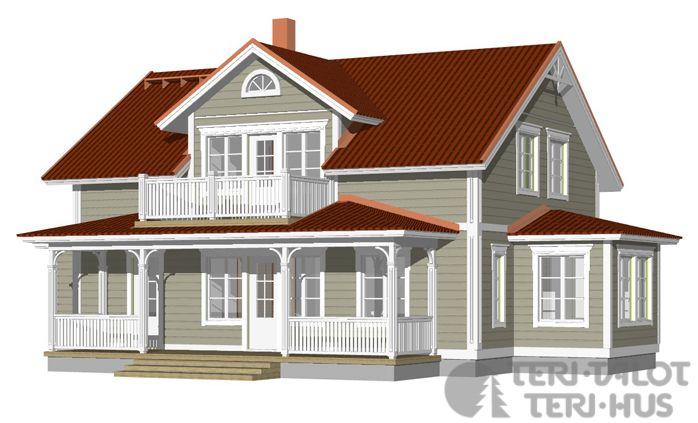 Husmodeller | Trähus | Huspaket | Teri-Hus | Övriga modeller | 1½-plan | L-13191 / 174 m²