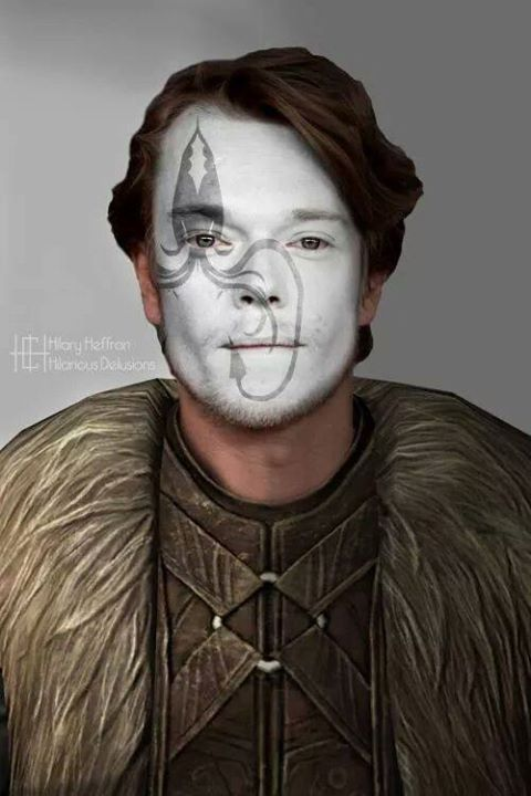 Theon Greyjoy | Game of Thrones War Paint by Hilary Heffron - Hilarious Delusions