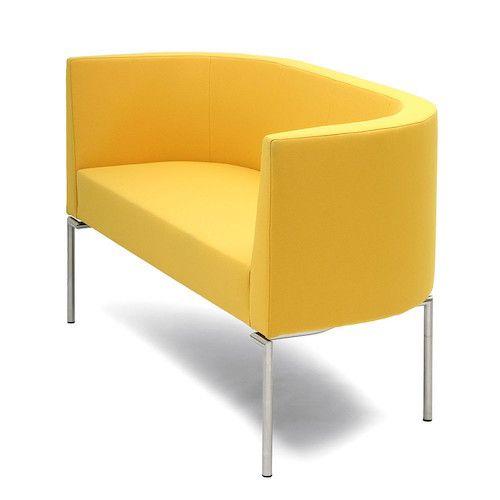 Canapeaua Round Double imbina simplitatea si eleganta, acordand o nota de rafinamemt oricarui spatiu. Descopera mai mult pe www.somproduct.ro/canapele/office #SomProduct #inspiration #yellow #office #simple #design #inspiring #home #deco #modern #comfort