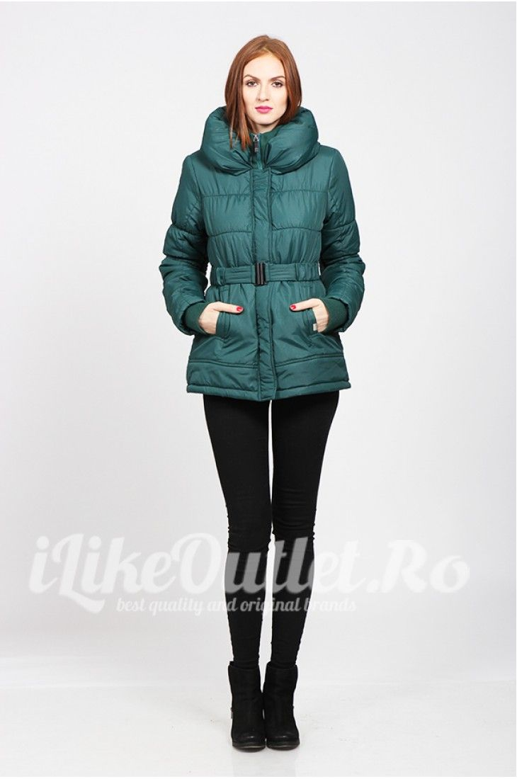 Green winter jacket - ONLY