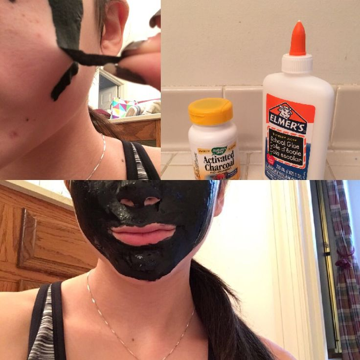 Activated Charcoal + Elmer's Glue make a great black head removal mask!