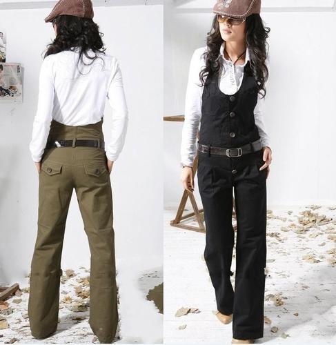 Women Cotton Casual Formal Dress Up Halter Vest Pants | eBay US $29.99