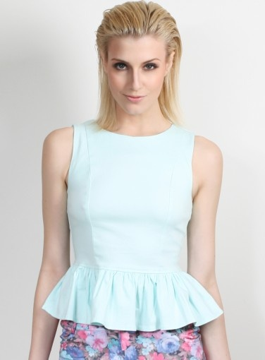 Mint Peplum Top #fashion #style #trends #spring #goshcelebrity