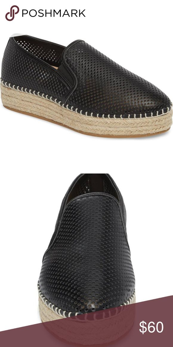 ad12900bf59 Steve Madden Wright Perforated Platform Espadrille Steve Madden Wright  Perforated Platform Espadrille Shoes Size 7 Black Breezy perfo…