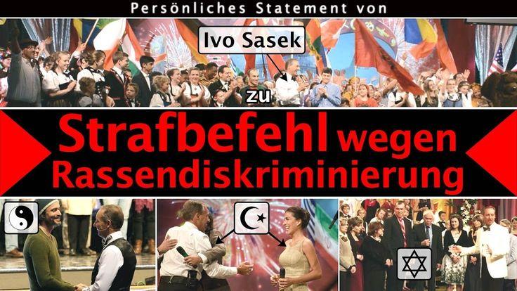 Persönliches Statement von Ivo Sasek zum Strafbefehl wegen Rassendiskrim...
