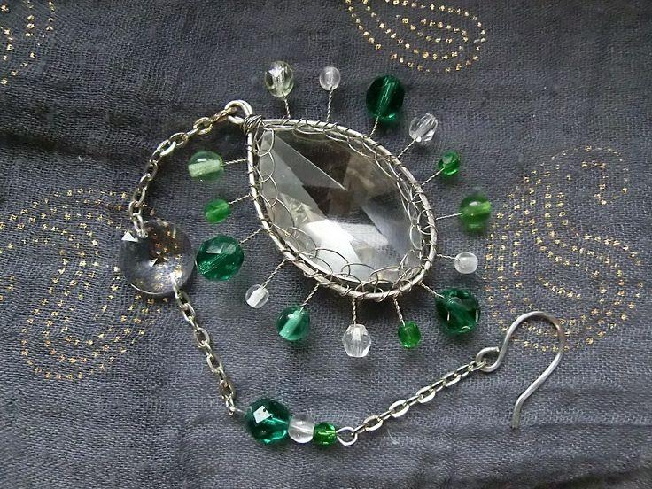 glass suncatcher with beads