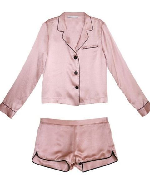 Chic PJs for fashion girls. Fleur Du Mal PJ Set $375