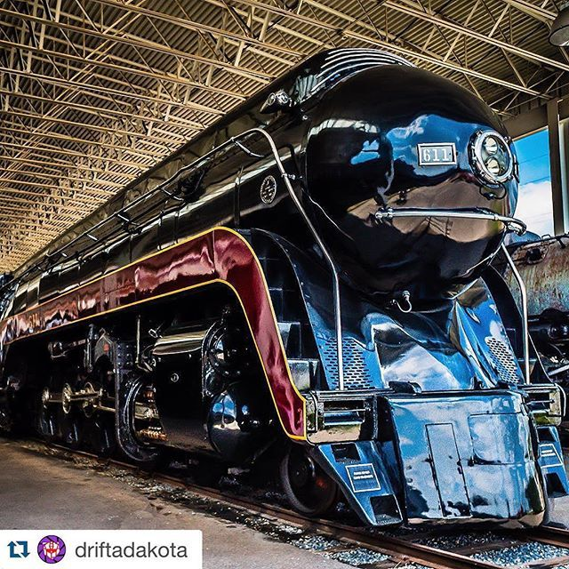 See the N&W 611 Steam Locomotive at the Virginia Museum of Transportation | Photo by Instagram user driftadakota