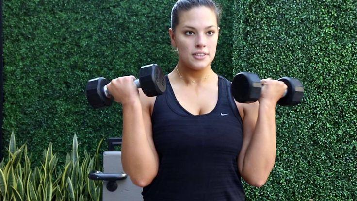Super Model Ashley Graham Workout Part 2