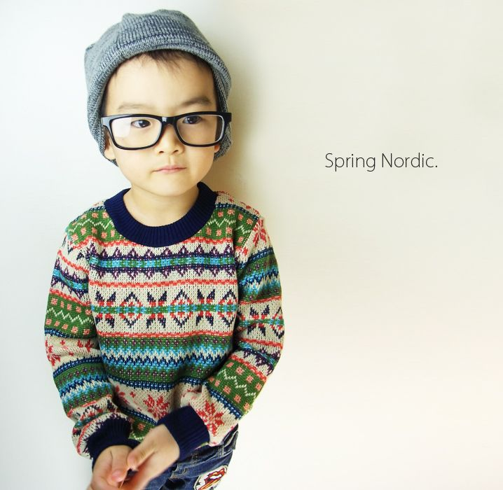 nordic...of course, he probably will be too hot-natured to want to wear sweaters.