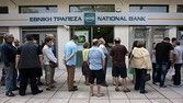 """People line up to withdraw cash from a National Bank ATM in Thessaloniki, Greece June 27, 2015. Greek Prime Minister Alexis Tsipras called a referendum on austerity demands from foreign creditors on Saturday, rejecting an """"ultimatum"""" from lenders and putting a deal that could determine Greece's future in Europe to a risky popular vote. REUTERS/Alexandros Avramidis"""