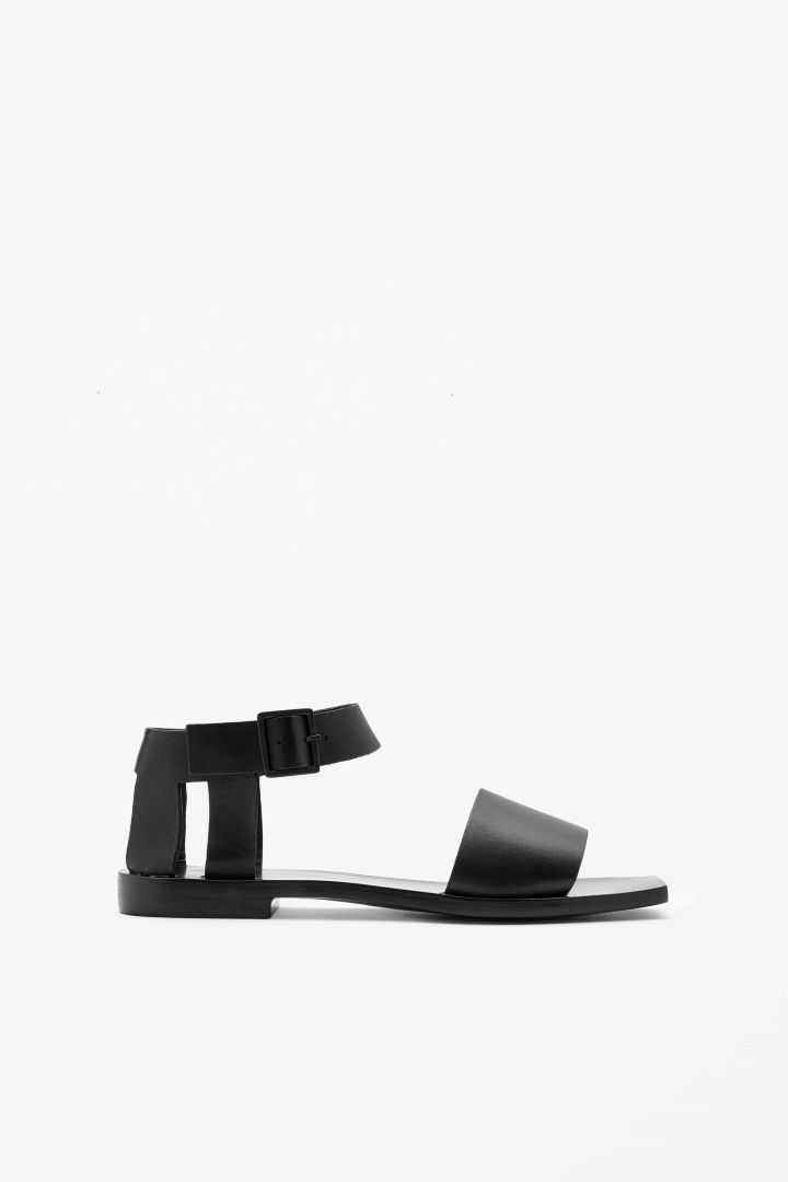 COS | Square-toe leather sandals