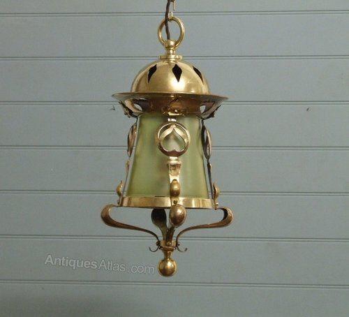 Antiques atlas arts crafts brass light