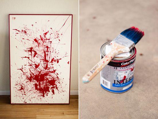 Splatter Painting - more inspiration for diy living room art