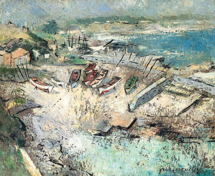 George Enslin (1919-1972) 'Hermanus Harbour', 1956