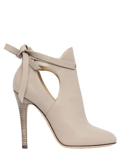JIMMY CHOO - 110MM MARINA LEATHER ANKLE BOOTS