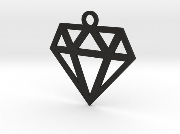 Diamond Lines Necklace Pendant - Available Here: http://www.shapeways.com/model/2500815/diamond-lines-necklace-pendant.html?li=shop-results&materialId=7