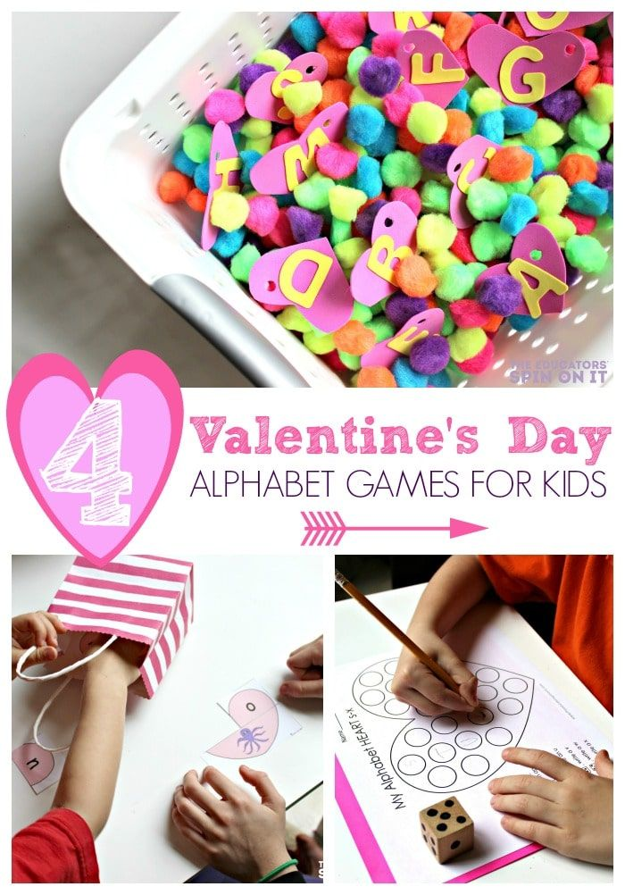 Play and learn your alphabet with hearts this Valentine's Day. Fun games for kids to play to help  master their ABC's Directions on how to make and play the following games are included in this article. Valentine's Day Alphabet Mystery Puzzle Game ABC Heart Search Game Valentine's Day Alphabet Dot Sticker Matching Roll and write. #valentinesdayactivities #valentinesday #kids #kids activities #eduspin