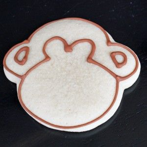 Monkey cookie frosting