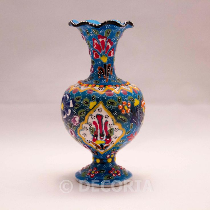 Large Vase - Baby Blue - DECORIA HOME & GIFT
