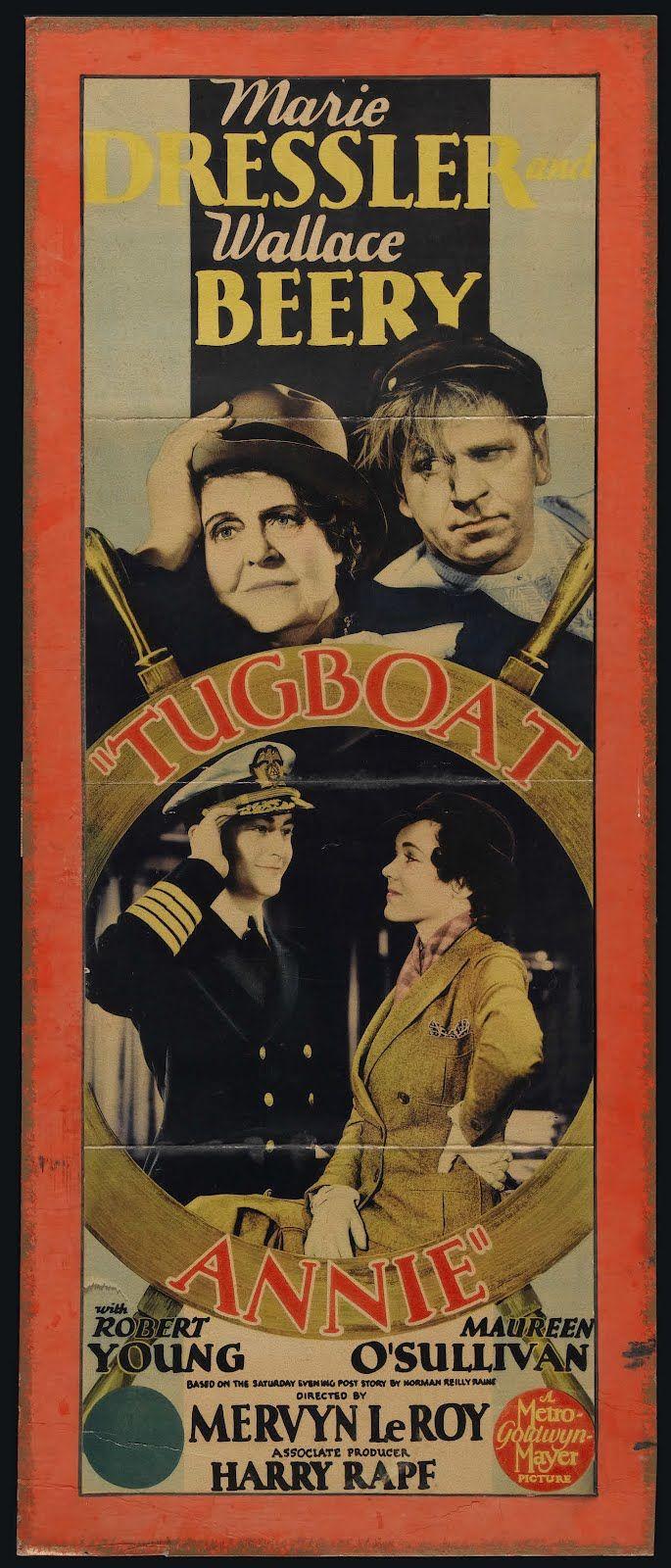 Rare film classics SILENT talkies TV on DVD: Marie Dressler ~ Dangerous Females (1929) & Tugboat Annie (1933)