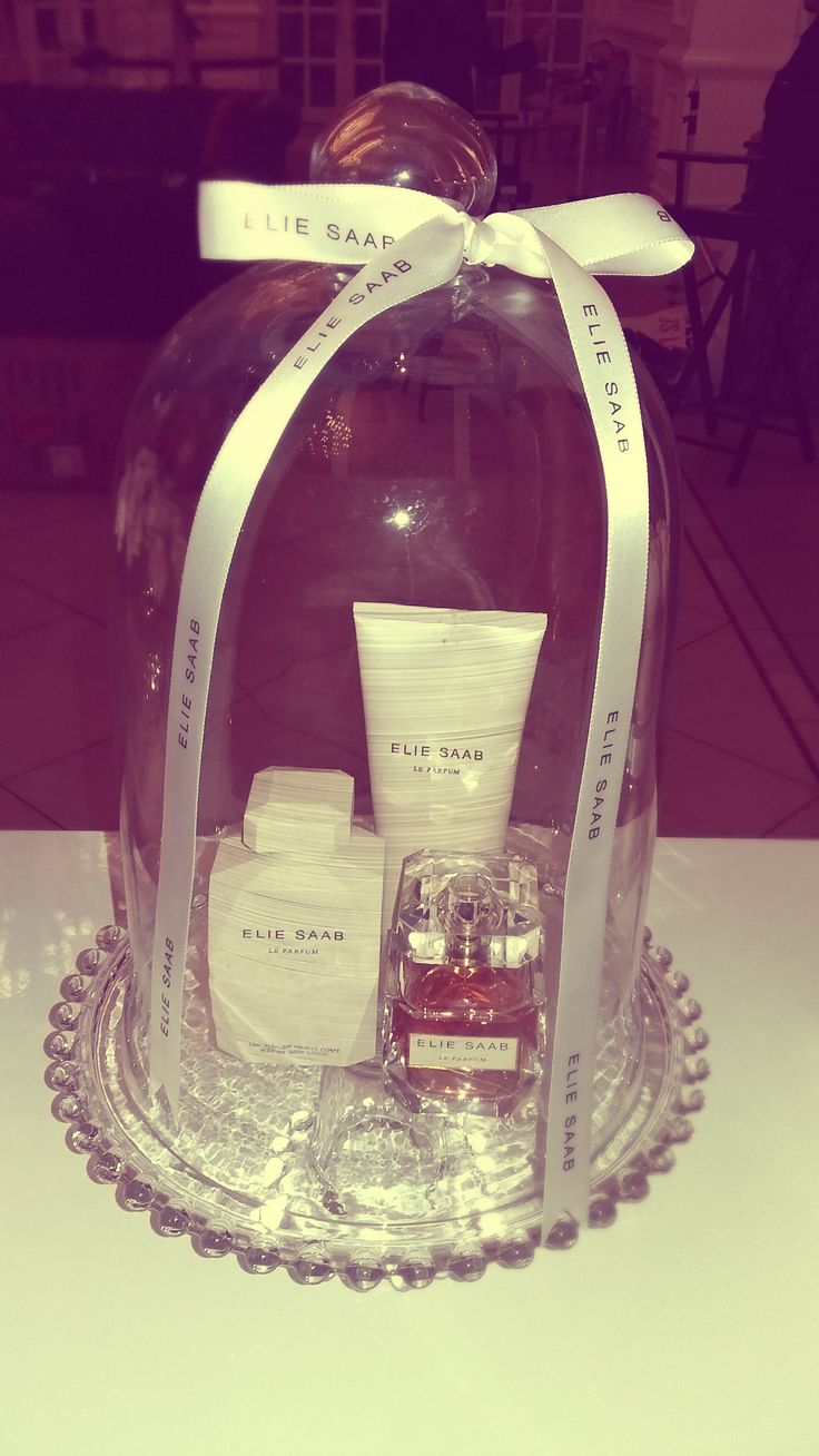 Elie Saab products on display on their stand