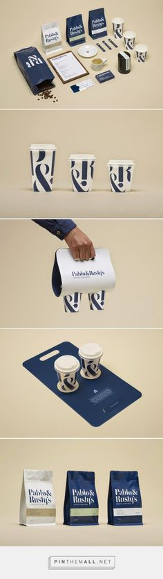 Incorporate the bold type of your brand identity in take away packaging to make it easily identifiable from a distance.