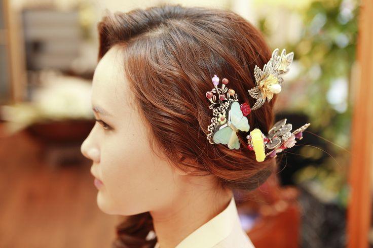 korean dress  hair acc
