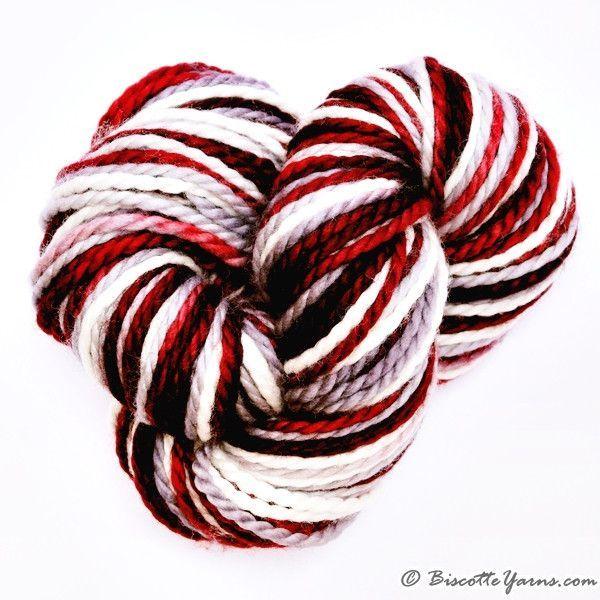 Merino worsted weight yarn GRIFFON self-striping roi de coeur