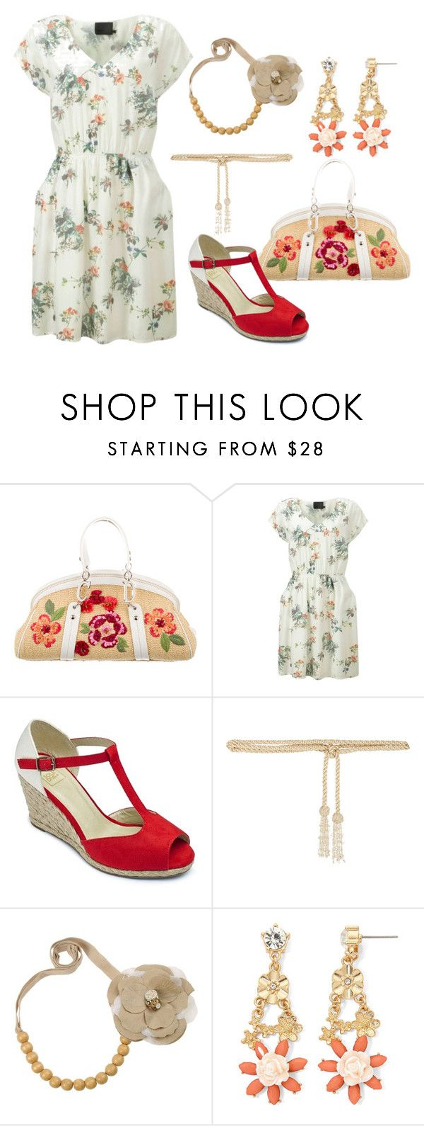 """НС - Сельский стиль 1"" by look-comskaya ❤ liked on Polyvore featuring Christian Dior, Minimum, Valentino, Gemma Simone, women's clothing, women, female, woman, misses and juniors"
